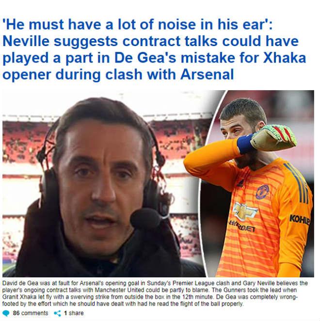 MU thua Arsenal: Báo Anh tiếc cho De Gea, chuyên gia chỉ ra nguyên nhân - 1