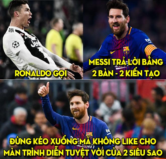 """Dân mạng """"ngả mũ"""" trước Messi, hóng đại chiến Ronaldo tại C1 - 1"""