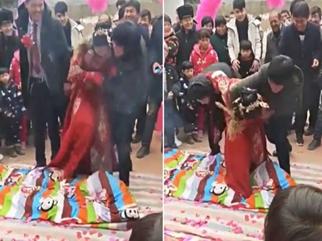 Cô dâu bị nhà chồng dúi đầu đau đớn ngay trong đám cưới