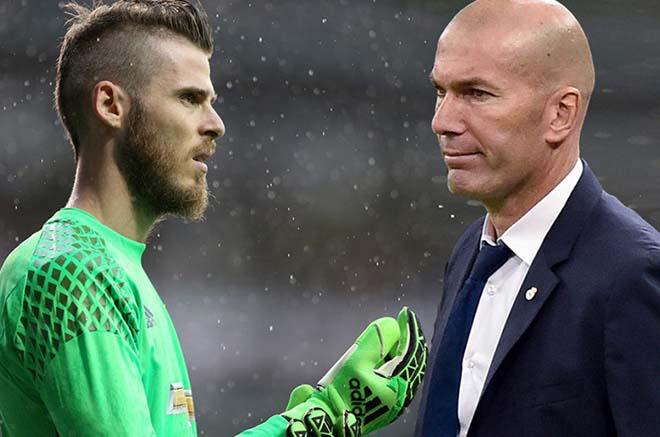 """""""Ông trùm"""" Zidane thải hồi Courtois: Bất ngờ nhắm De Gea, MU choáng váng - 1"""