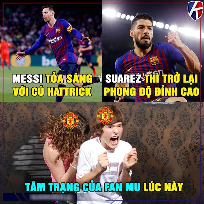 """Ảnh chế: Messi tỏa sáng rực rỡ, fan MU bắt đầu """"run rẩy"""" - 1"""