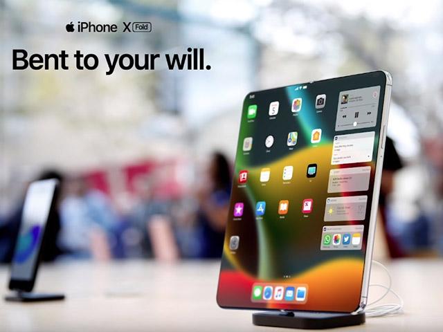 iPhone gập lại đẹp mê ly thách thức Galaxy Fold và Mate X
