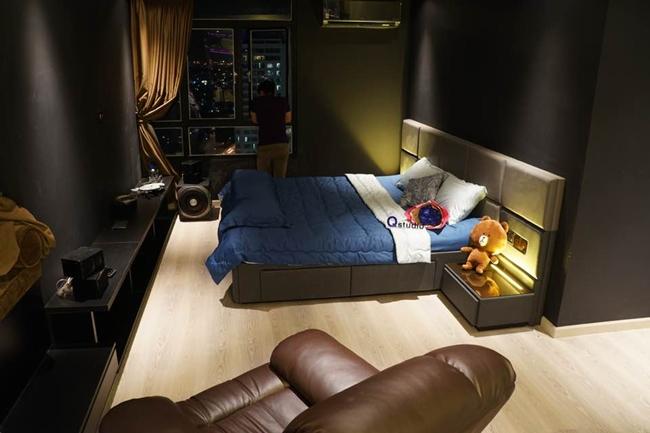 Một thiết kế phòng ngủ khác trong căn hộ của Lương Bằng Quang.