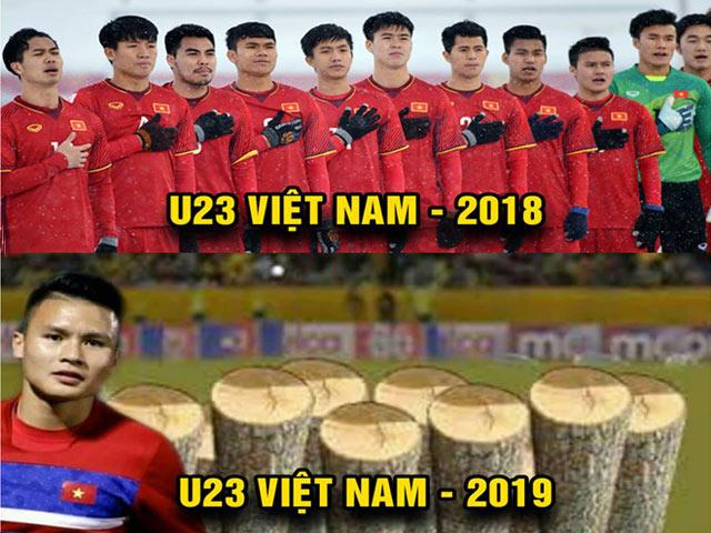 """Ảnh chế chiến thắng """"nghẹt thở"""" phút cuối của U23 Việt Nam"""
