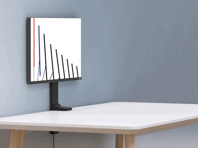 Cận cảnh màn hình Samsung Space với chân đế độc lạ, tiết kiệm không gian