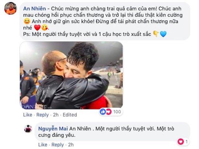 Đình Trọng của U23 Việt Nam vừa online, Facebooker rần rần hỏi thăm sức khỏe