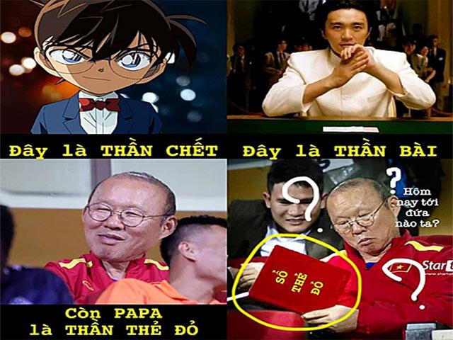 """HLV Park Hang Seo được cộng đồng mạng Việt ví là """"thần thẻ đỏ"""""""