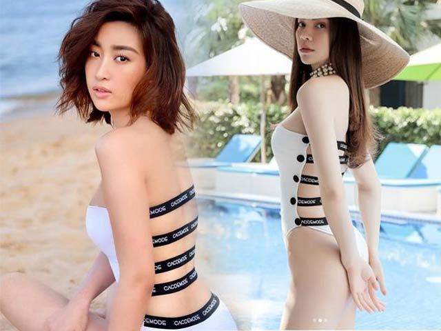 """Đỗ Mỹ Linh, Phương Khánh, Hồ Ngọc Hà """"đụng hàng"""" một bộ đồ tắm"""