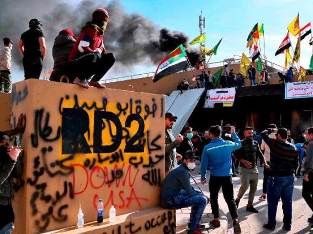Diễn biến mới vụ đại sứ quán Mỹ ở Iraq bị vây hãm, đốt phá