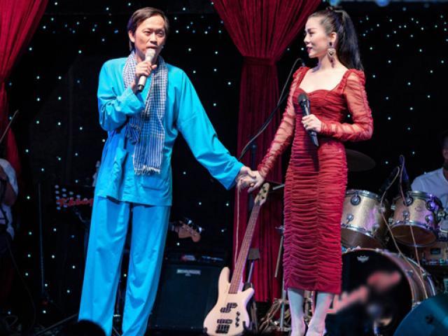 """Hoài Linh mặc áo bà ba, nắm chặt tay """"nữ hoàng Bolero"""""""