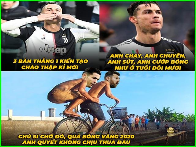"""Ronaldo hóa """"siêu nhân"""" đầu năm mới khiến Messi phải dè chừng"""
