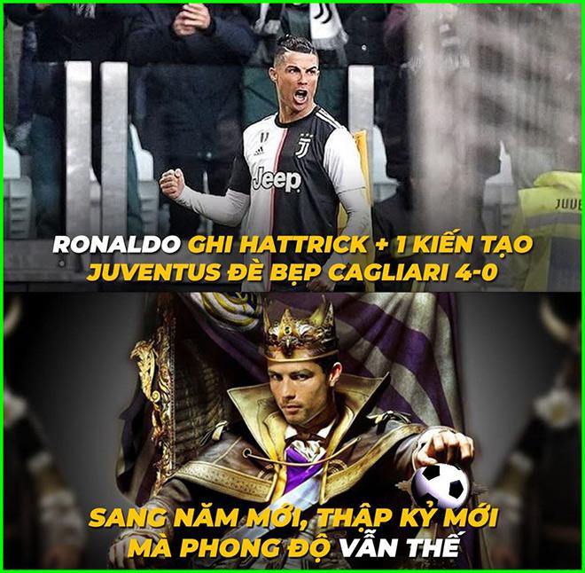 """Ronaldo hóa """"siêu nhân"""" đầu năm mới khiến Messi phải dè chừng - 1"""