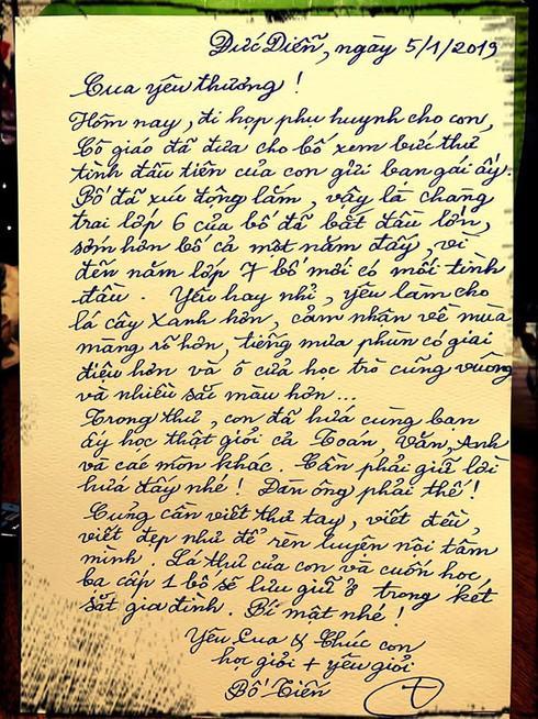"""Thấy thư tình của con gửi bạn gái, ông bố ứng xử khiến dân mạng """"phục sát đất"""" - 1"""