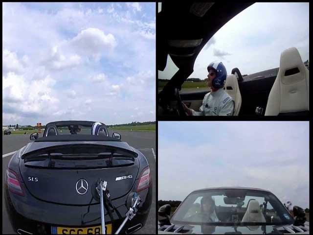 Thể thao - Kỷ lục thế giới: Lái siêu xe vận tốc 286 km/h vẫn bắt gọn quả bóng golf