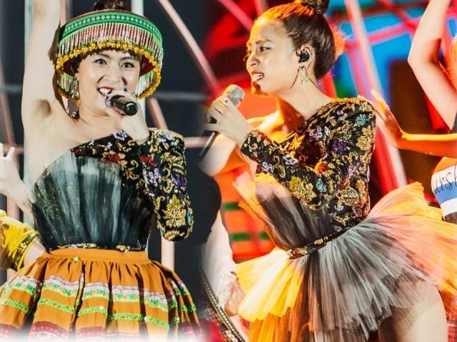 """Hoàng Thùy Linh mặc váy """"siêu ngắn"""", hát loạt hit chục triệu view trước 12.000 khán giả"""
