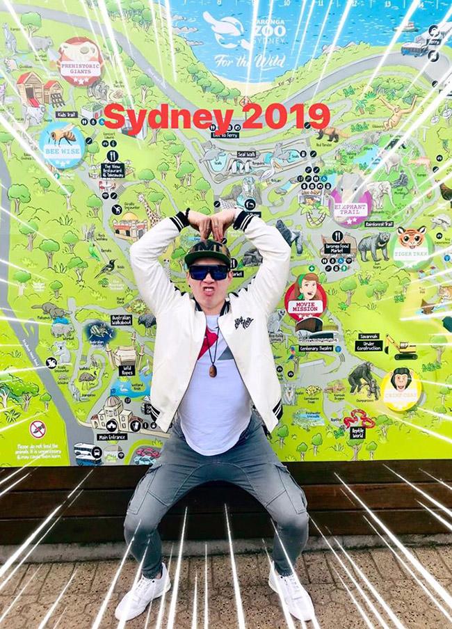 Giữa năm 2019, Trương Nam Thành có chuyến du lịch nước ngoài tại Sydney.