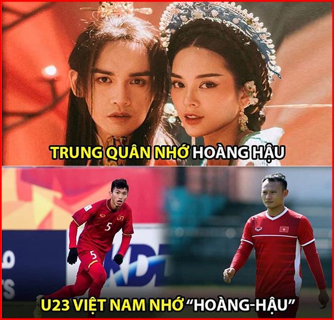 """U23 Việt Nam bị cầm hòa, fan Việt nhớ """"Hoàng-Hậu""""."""