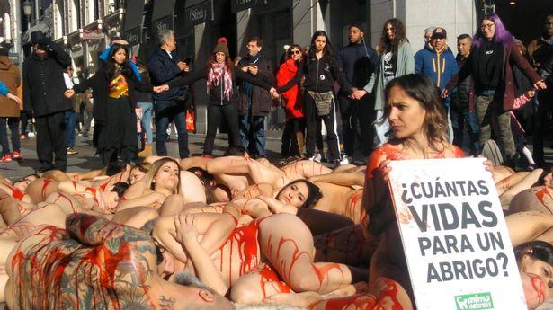 50 phụ nữ khỏa thân biểu tình ở Tây Ban Nha giữa trời giá lạnh - 1