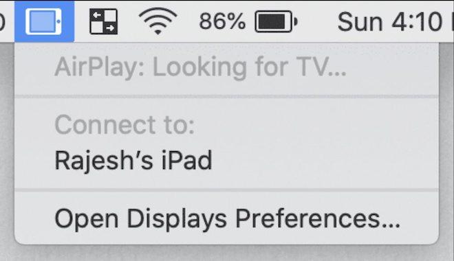 Hướng dẫn kết nối màn hình máy Mac với iPad - 1