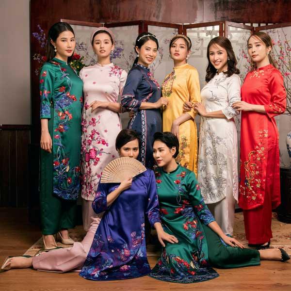 Diễm My 9X, Quỳnh Nga gợi ý chọn áo dài xuân cách tân xinh tươi - 1