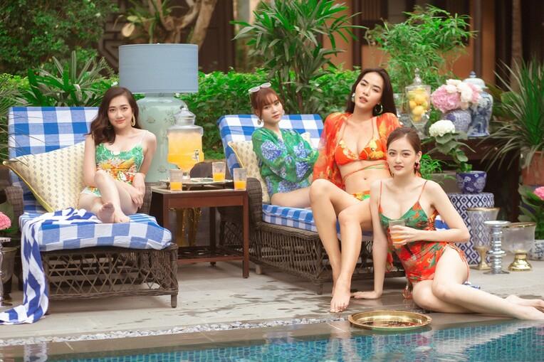 """Lan Ngọc cùng hội bạn thân diện bikini nóng bỏng, gây """"náo loạn"""" biệt phủ xứ Huế - 5"""