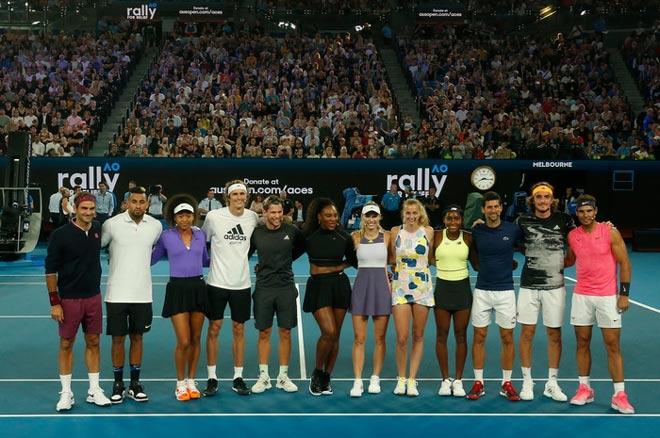 """Nadal bỗng dưng giơ """"ngón tay thối"""" với Djokovic ở Australian Open - 1"""