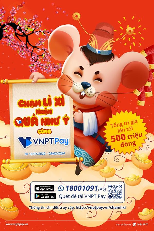 Nhận lì xì siêu chất của VNPT Pay theo phong cách Chạm 4.0 - 1