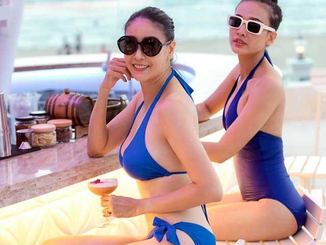 Thời trang - Thời trang đi biển, xả hơi đón Tết của sao Việt