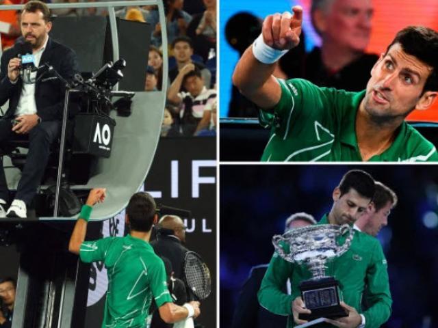 """Thể thao - Djokovic quát CĐV, """"khen đểu"""" trọng tài Australian Open: Đau đầu án phạt"""