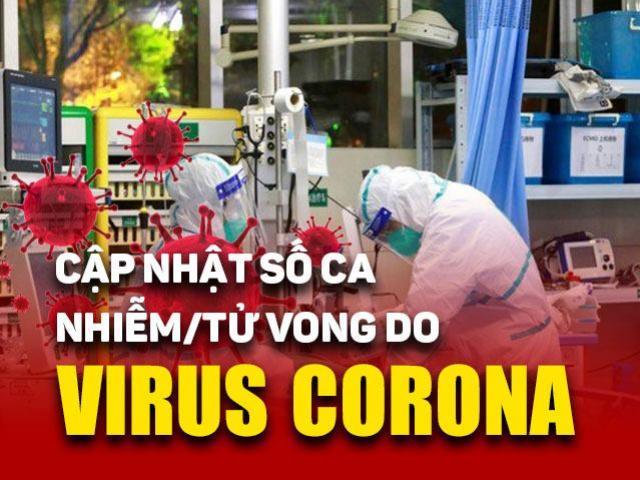 Bảng cập nhật số ca nhiễm, tử vong và khỏi bệnh liên quan đến dịch Covid-19
