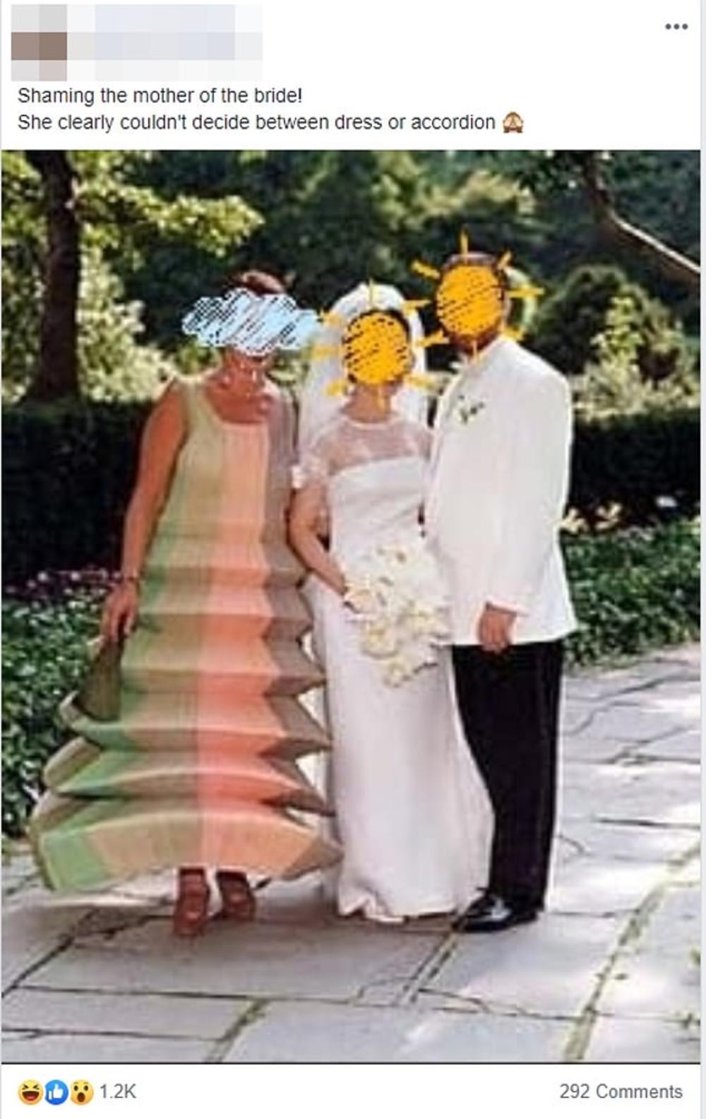 Mẹ cô dâu nên mặc gì trong đám cưới để tránh bị cười chê như trường hợp này? - 1