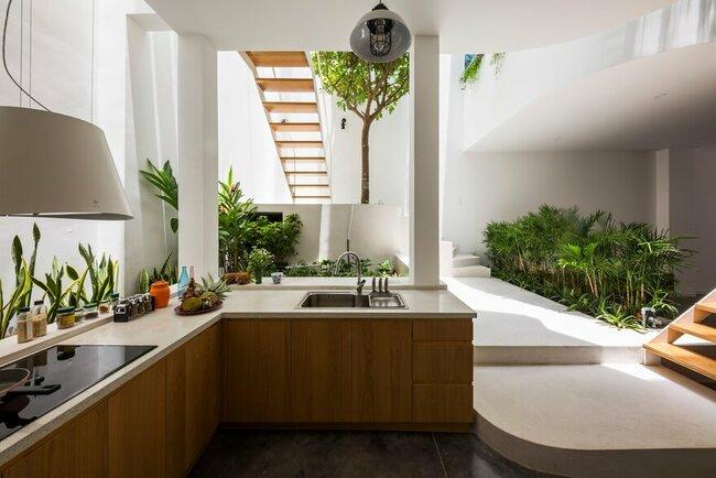 Không gian mở để nấu nướng, ăn uống và cùng nhau trồng cây xanh.