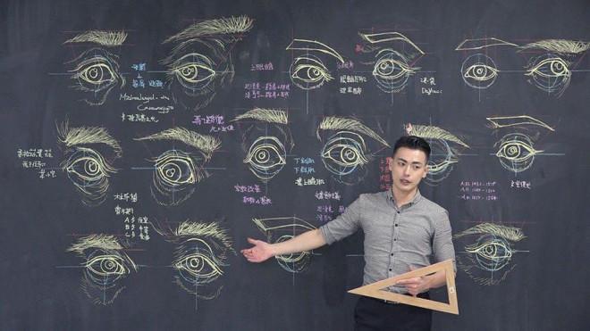 Thầy giáo soái ca nổi như cồn trên mạng nhờ khả năng minh họa cơ thể người bằng phấn cực đỉnh - 1