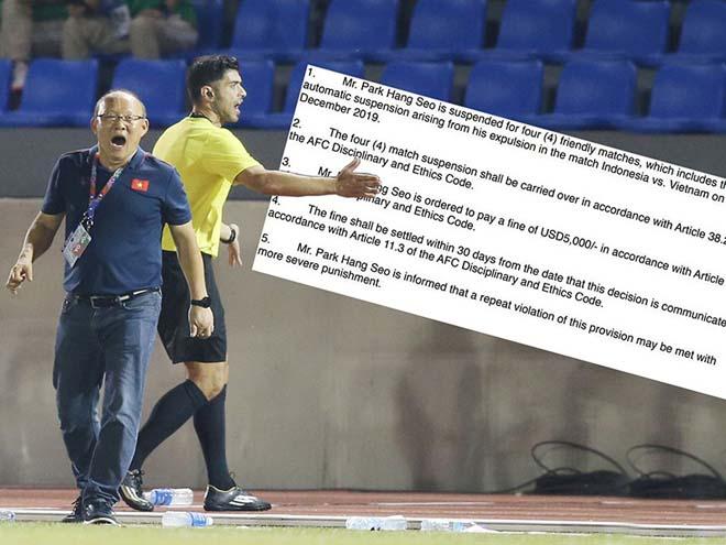 Ông Park bị cấm chỉ đạo bốn trận… - 1