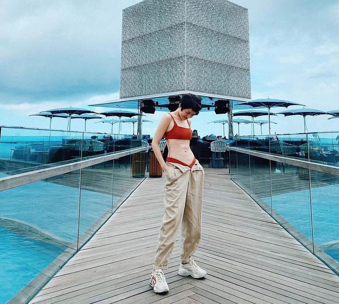 Hà Hồ mix quần toang cúc với áo mỏng, Quang Linh chỉ lo cô trúng gió - 8