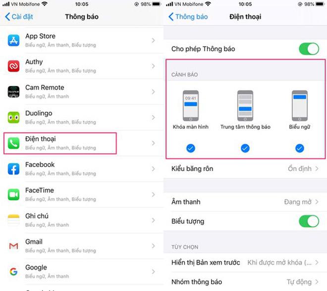 Cách sửa lỗi iPhone không thông báo cuộc gọi nhỡ - 2
