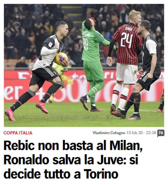 Rực lửa Ronaldo đấu Ibrahimovic: Báo Italia thán phục CR7 cứu Juventus - 1