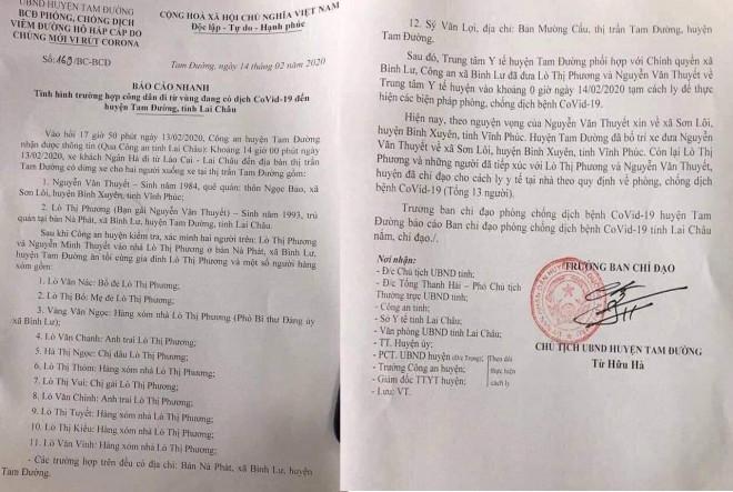 Lai Châu: Cách ly 13 người tiếp xúc với thanh niên đến từ tâm dịch Vĩnh Phúc - 1