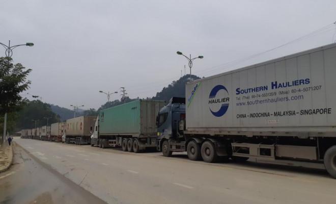 Hơn 700 container đang ùn ứ vì dịch Covid-19, nông sản vẫn ùn ùn lên cửa khẩu - 1