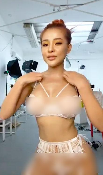 Hot girl Bình Định tung clip hậu trường chụp ảnh nội y phản cảm - 1