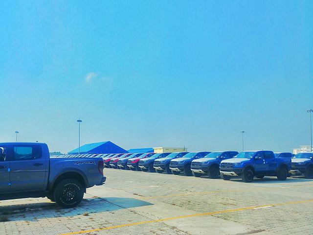 Hình ảnh lô xe Ford Ranger Raptor 2020 đầu tiên về Việt Nam