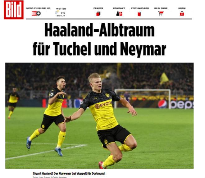 """Haaland """"bắn hạ"""" PSG, Neymar cúp C1: Báo châu Âu sửng sốt gọi là """"Gã khổng lồ"""" - 1"""