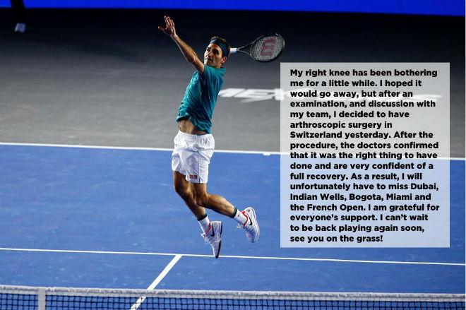 Choáng: Federer lên bàn mổ nghỉ 4 tháng, bỏ Roland Garros - 1