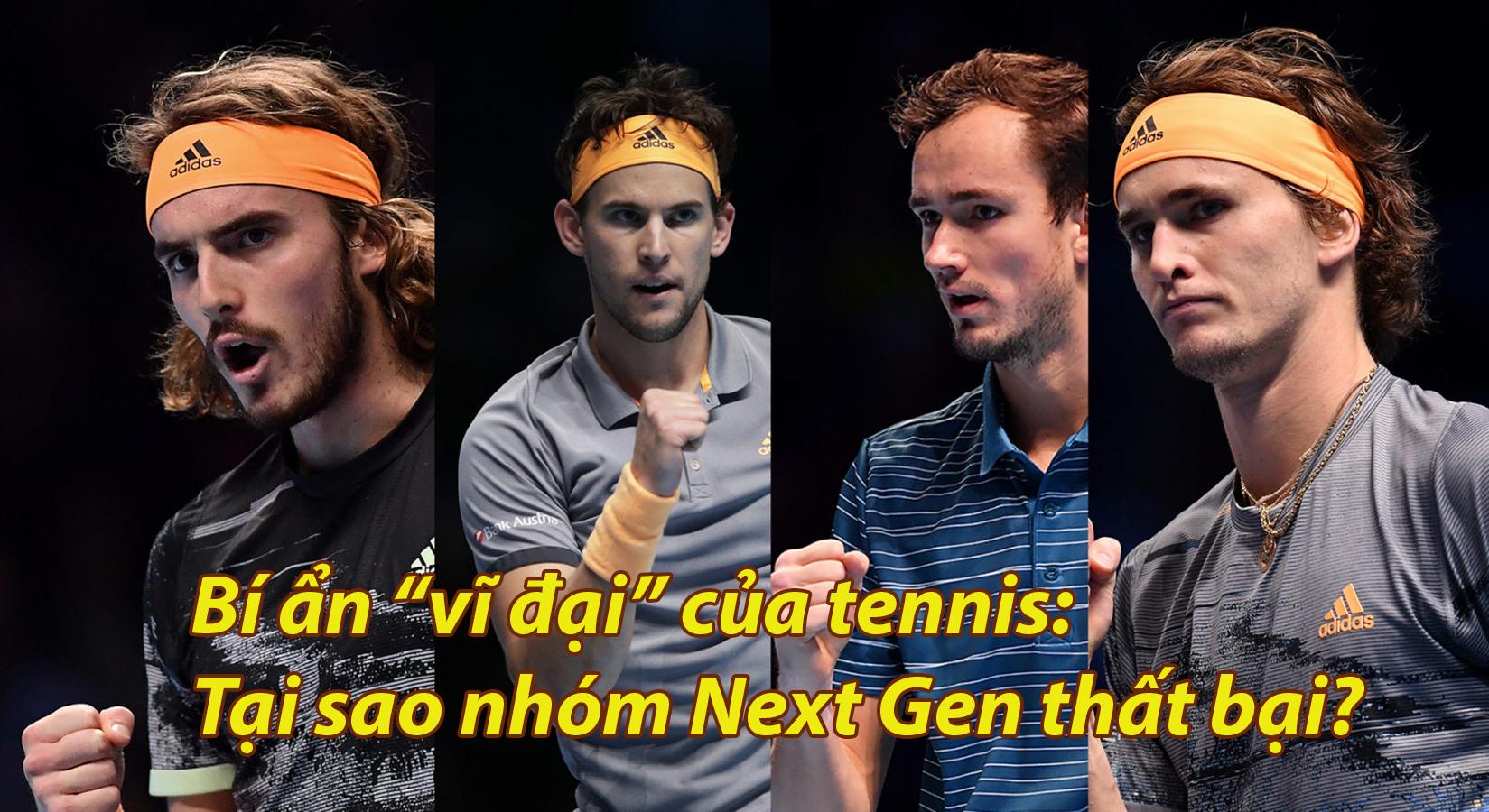 """Bí ẩn """"vĩ đại"""" của tennis: Tại sao nhóm Next Gen thất bại? - 1"""
