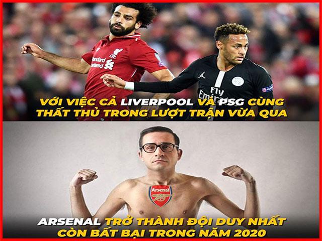 Ảnh chế Arsenal là đội bóng duy nhất đang bất bại trong năm 2020