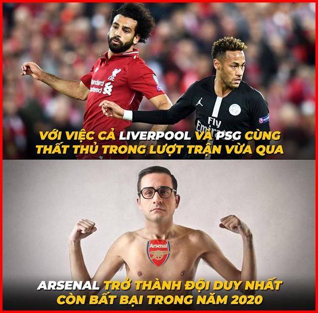 Arsenal là đội bóng duy nhất bất bại trong năm 2020 cho đến hiện tại.