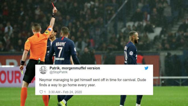 """Nghi án Neymar chiêu trò để """"ăn chơi nhảy múa"""": Thẻ đỏ phút 90, fan PSG nổi giận - 1"""