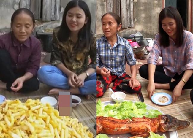Cư dân mạng còn đặt hai hình ảnh cô con gái của bà Tân xuất hiện trong 2 clip để khẳng định nhan sắc trời cho.