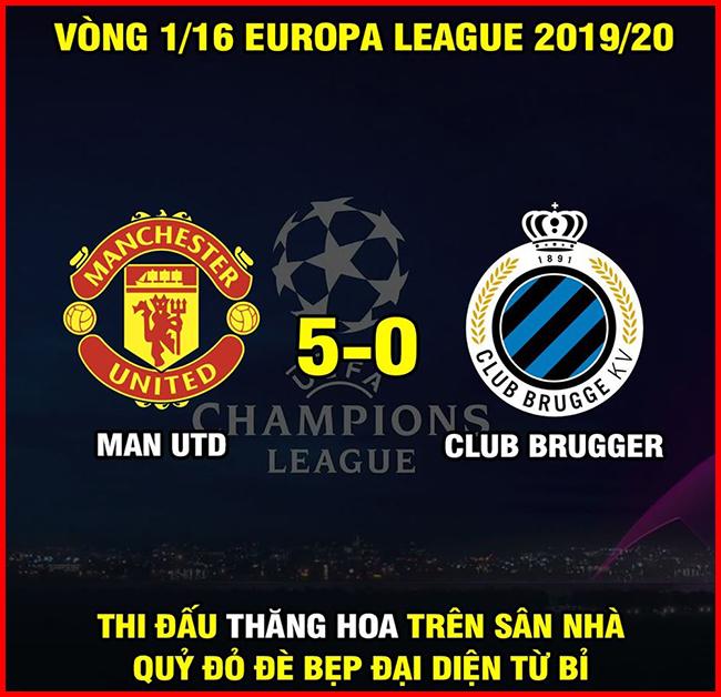 MU có màn hủy diệt đội bóng mạnh nhất nước Bỉ tại vòng knock-out cúp C2.