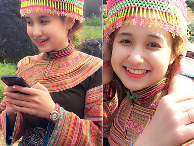 """Đằng sau nhan sắc ngọt ngào của """"hot girl dân tộc Mông"""" nổi tiếng sau 1 đêm"""